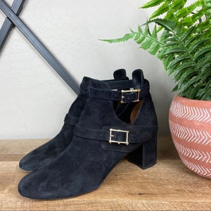 Valentino Suede Rockstud Ankle Booties