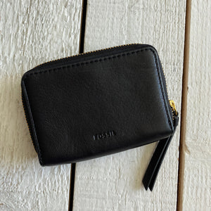 Fossil Fiona Zip Coin Leather Wallet