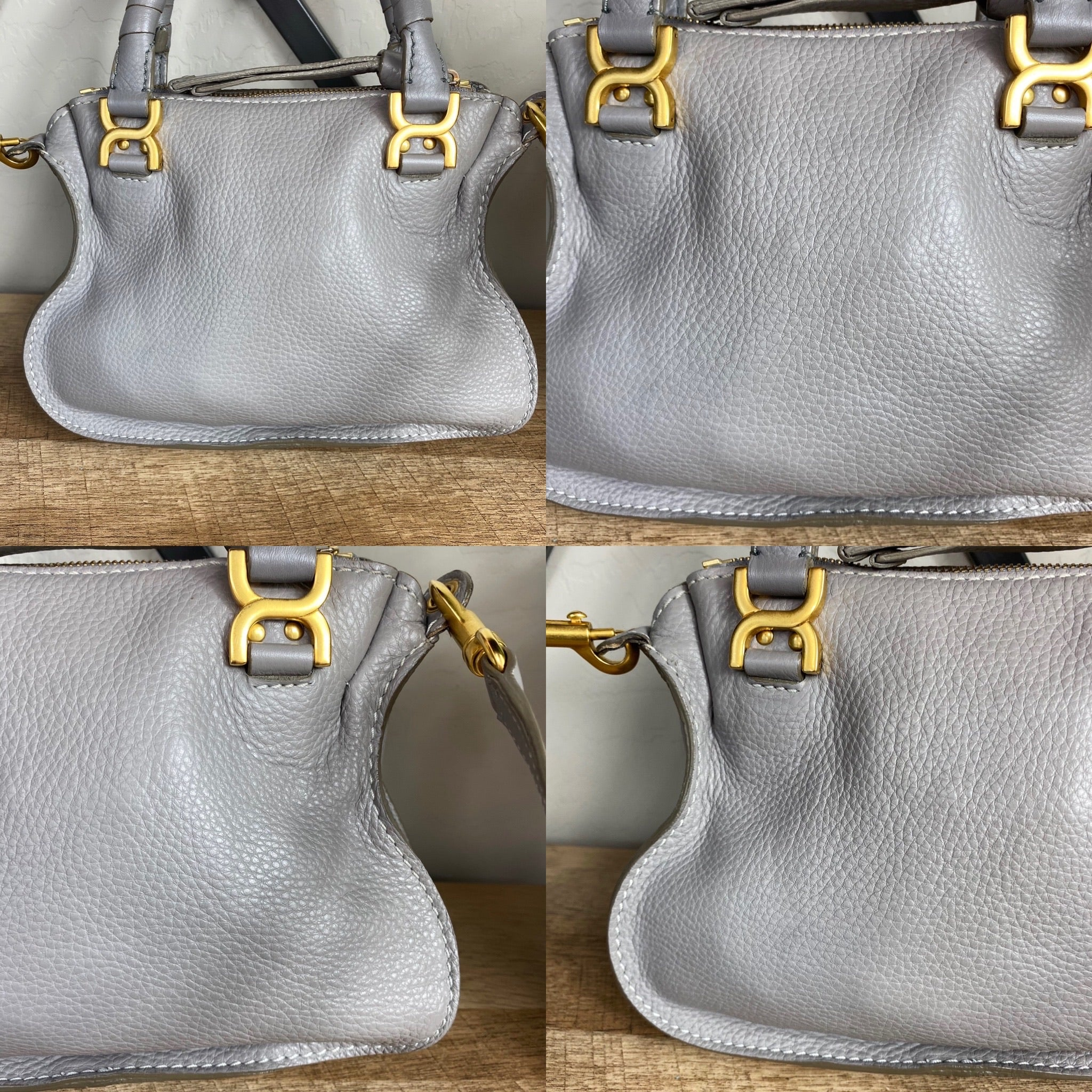 Chloé Small Marcie Leather Satchel Crossbody