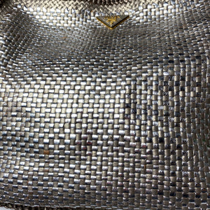 Prada Convertible Madras Woven Leather Large Tote