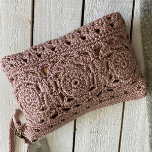 The Sak Crochet Wristlet Wallet Zipper Pouch