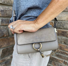 Load image into Gallery viewer, Chloé Faye Mini Wallet Motty Grey Crossbody
