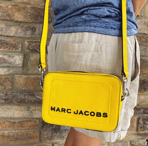 Marc Jacobs The Box Yellow Leather Crossbody