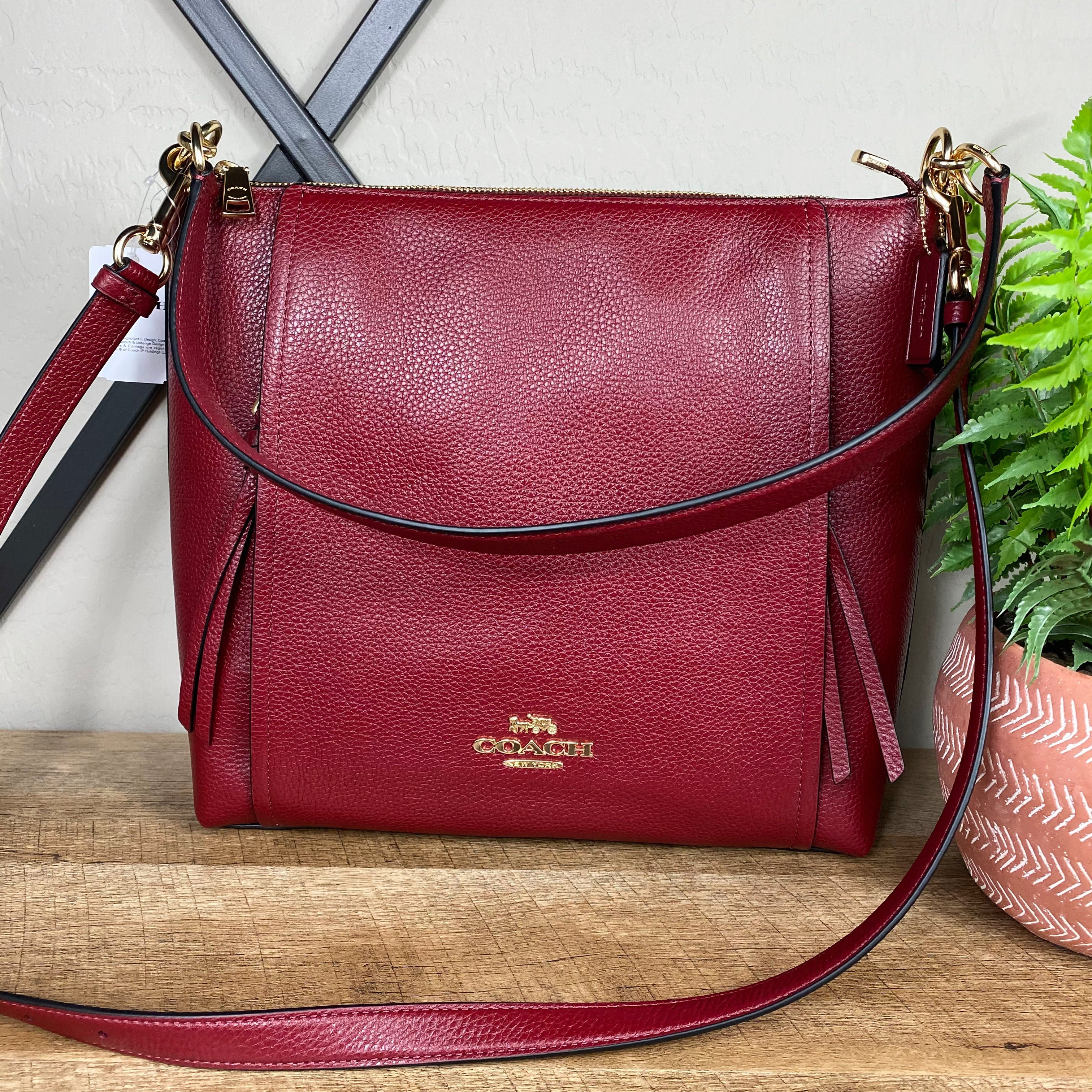 Coach Marlon Pebbled Leather Hobo Crossbody