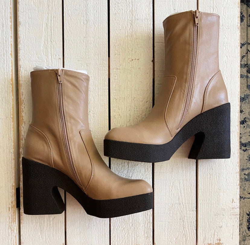 Jeffrey Campbell Kartini Beige Heeled Boot