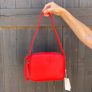 Tory Burch Thea Red Leather Convertible Bag