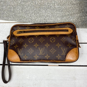 Louis Vuitton Marly Dragonne GM Wristlet Clutch
