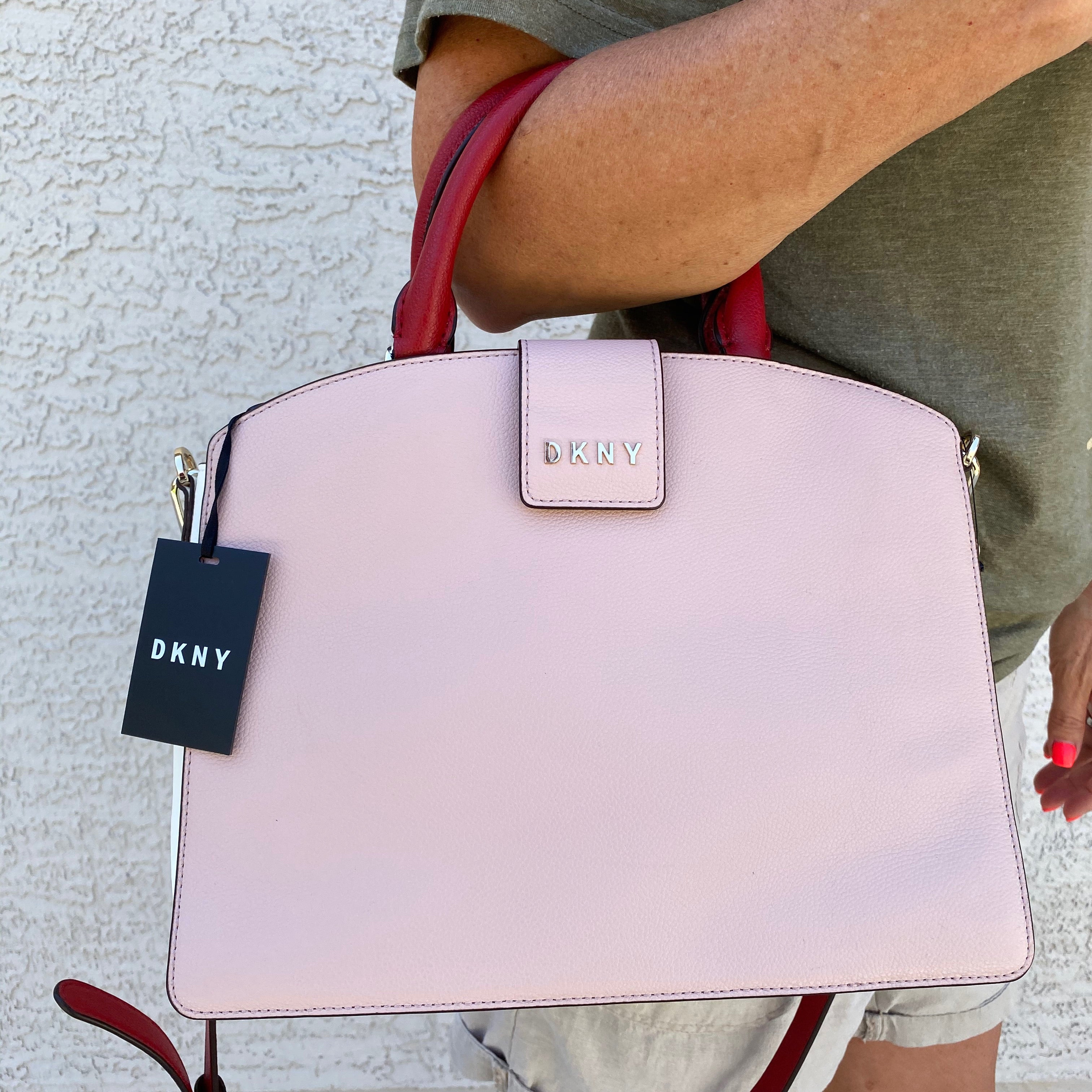 DKNY Clara Leather Satchel Crossbody Bag