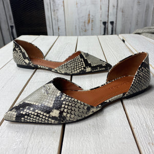 Coach Printed Exotic Pointy Toe Flat