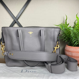 Christian Dior D-Bee Leather Tote