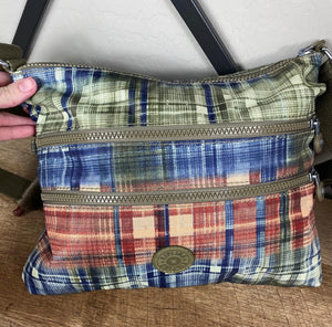 Kipling Alvar Plaid Crossbody Bag