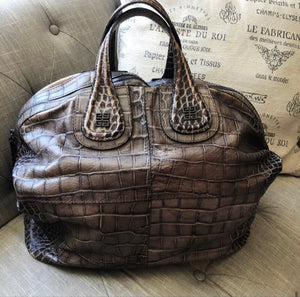 Givenchy Nightingale Crocodile Embossed Leather Bag