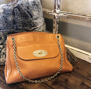 Mulberry Camel Leather Chain Shoulder Bag