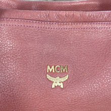 Load image into Gallery viewer, MCM Embossed Leather 2 Way Large Crossbody