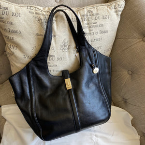Brahmin Carla Black Newbury Leather Tote