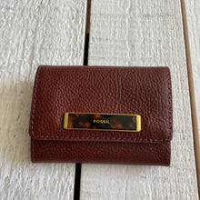 Load image into Gallery viewer, Fossil Leather Wallet Card Holder