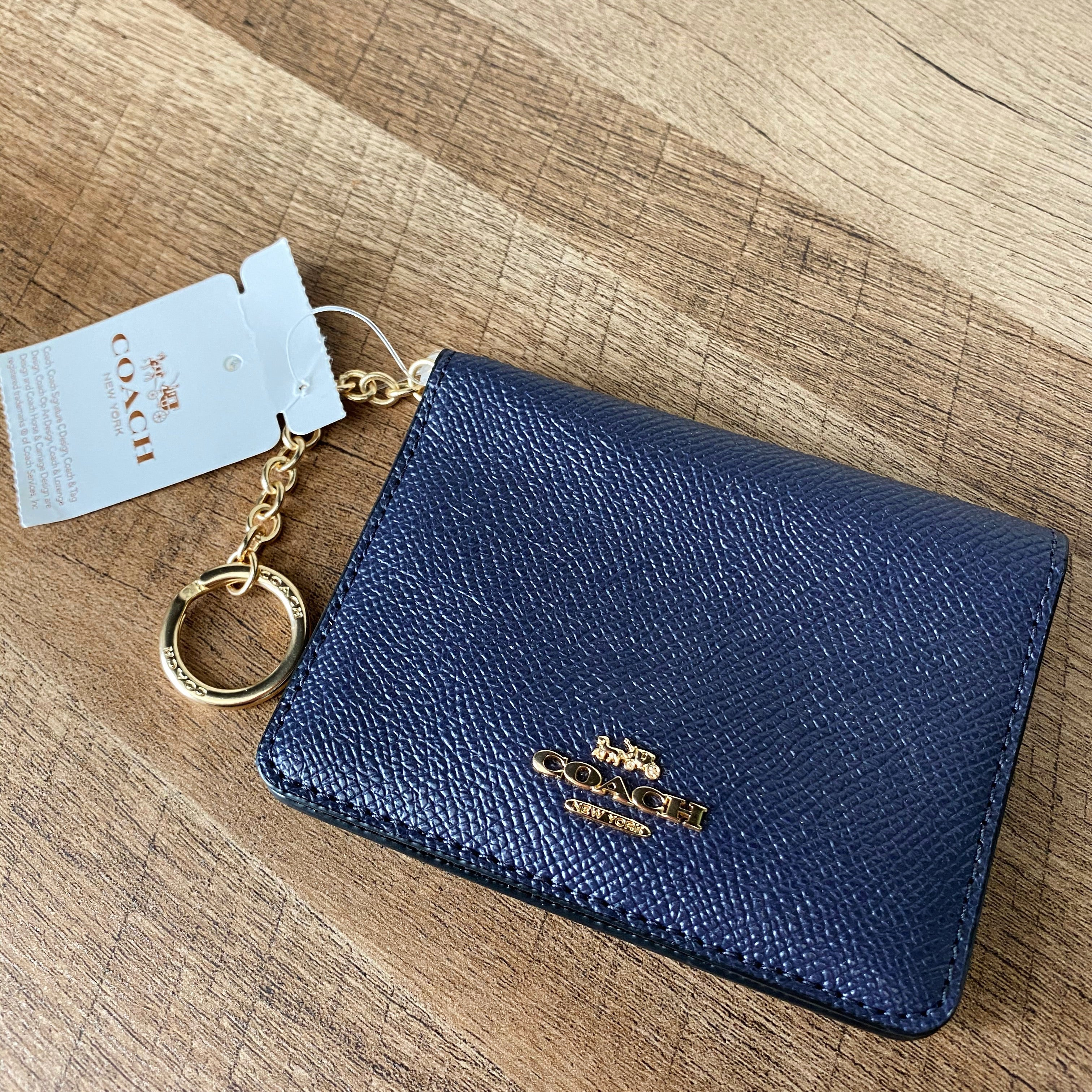 Coach Leather Keychain Wallet