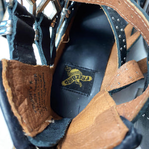 Freebird Felicity Leather Buckle Sandal Heel
