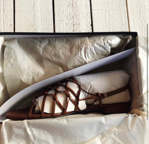 J. Crew Abbie Knotted Leather Sandal