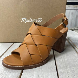 Madewell Cindy Woven Leather Sandal Heel
