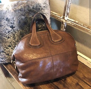 Givenchy Large Nightingale Leather Shoulder Bag
