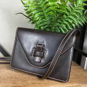 Gucci Stitched Leather Vintage Clutch Crossbody