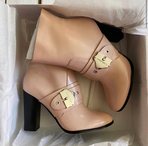 Calvin Klein Cai Box Buckle Heeled Ankle Boot