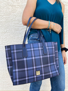 Dooney & Bourke Graham Blue Ashton Tote Bag