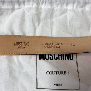 Moschino Classic Leather Logo Belt