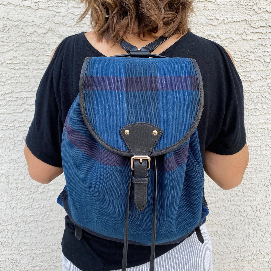 Burberry Medium Chiltern Canvas Check Backpack