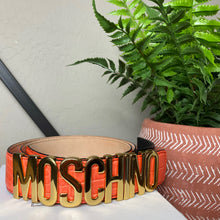 Load image into Gallery viewer, Moschino Classic Leather Logo Belt
