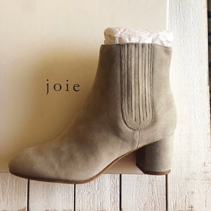 Joie Remmie Suede Leather Heeled Ankle Boot