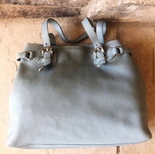 Load image into Gallery viewer, Prada Pebbled Leather Shopping Tote Buckle Tote