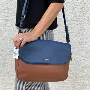 Fossil Leather Preston Crossbody Bag
