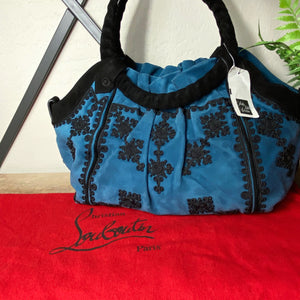 Christian Louboutin Telescope Brode Suede Hobo