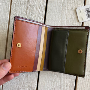 Coach Multicolor Folding Wallet Card Holder