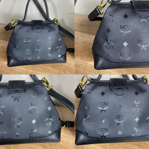 MCM Vintage Visetos Top Handle Doctor Bag