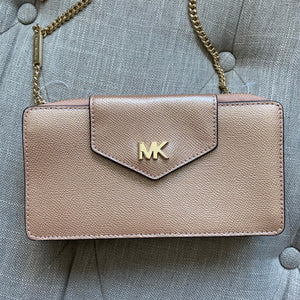 Michael Kors Gold Wallet on Chain Shoulder Bag