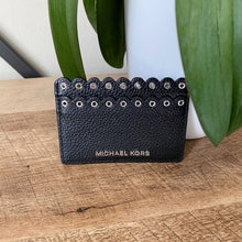 Load image into Gallery viewer, Michael Kors Leather Eyelet Studded Card Holder