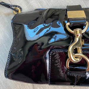 Jimmy Choo Patent Leather Lauren Shoulder Bag