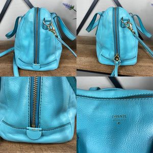 Fossil Sydney Leather Satchel Crossbody Bag