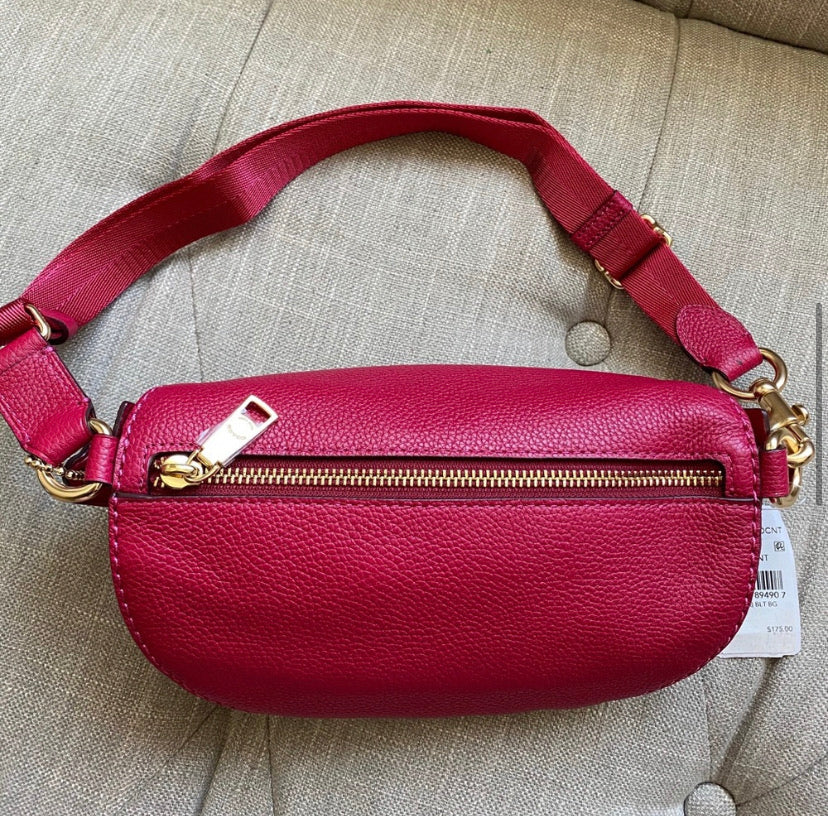 Coach Leather Fanny Bag Travel Bag