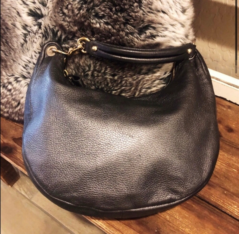 Jimmy Choo Metallic Hobo Shoulder Bag