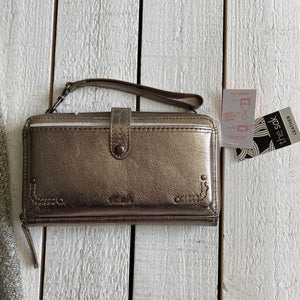 The Sak Wallet Wristlet Metallic Shoulder Bag