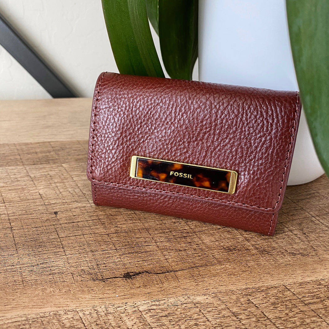 Fossil Leather Wallet Card Holder