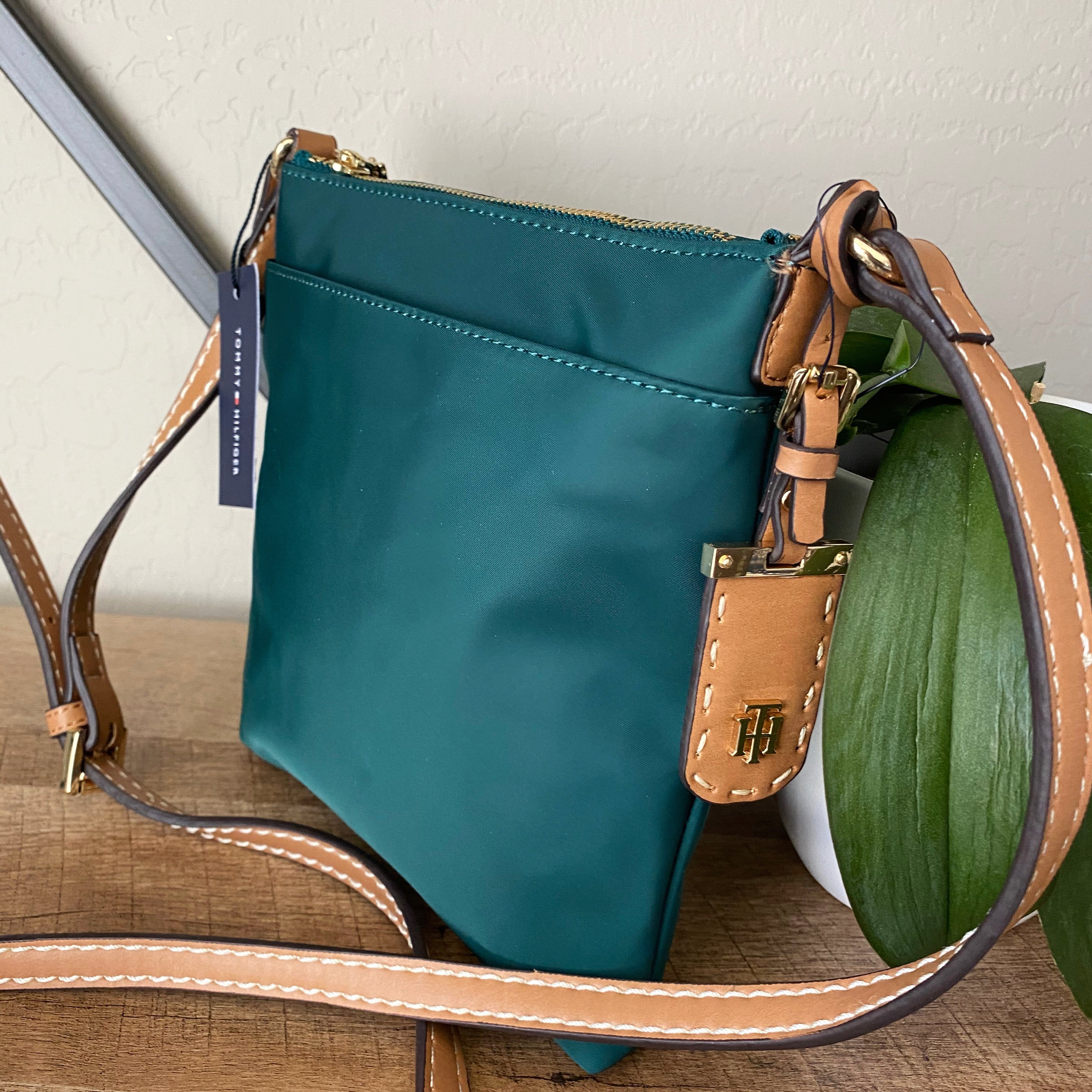 Tommy Hilfiger Green Nylon Crossbody Bag