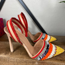 Load image into Gallery viewer, Tory Burch Isle Beaded Slingback Heels