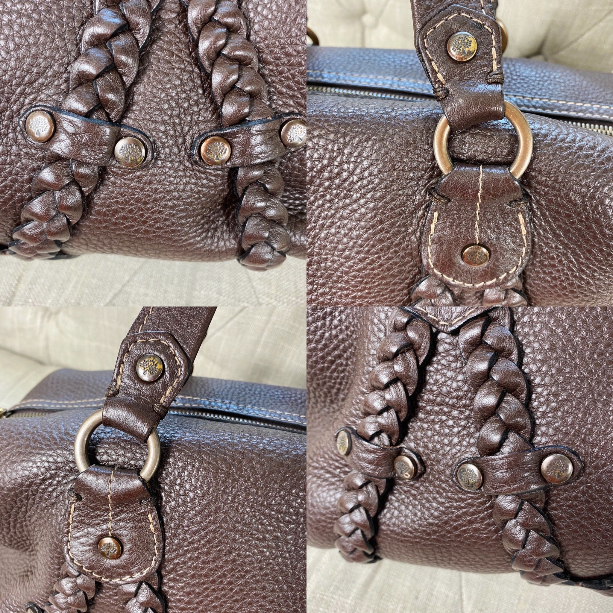 Mulberry Small Braided Leather Satchel