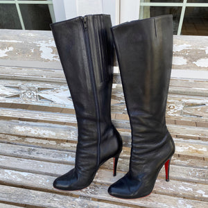 Christian Louboutin Bourge 100mm Leather Boots