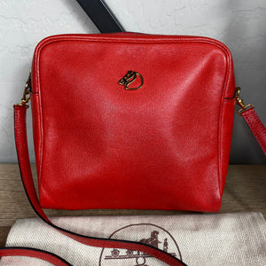 Hermès Horse Logo Vintage Leather Crossbody